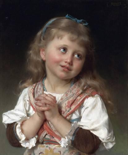 portraetgemaelde - Niña pequeña - Munier, Emile