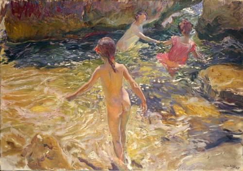 seelandschaft - Le bain dans la mer, Jávea - Sorolla, Joaquin