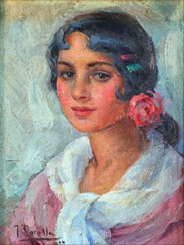 portraetgemaelde - Portrait d'une femme - Sorolla, Joaquin