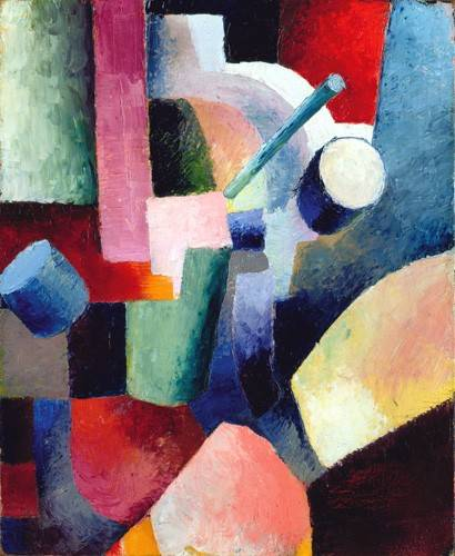 abstrakte-gemaelde - Abstracto _ Colored Composition of Forms, 1914 - Macke, August
