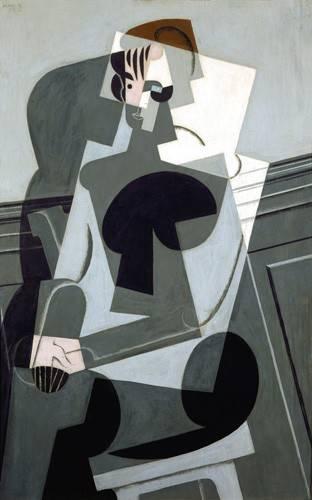abstrakte-gemaelde - Porträt von Madame Josette Gris, 1916 - Gris, Juan
