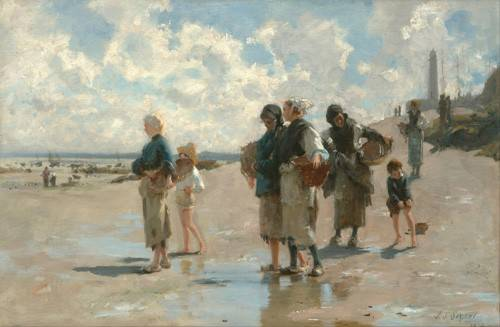 seelandschaft - Fishing for Oysters at Cancale, 1878 - Sargent, John Singer