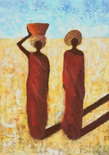orientalische-gemaelde - African Girls, 2001 - Wilson, Tom