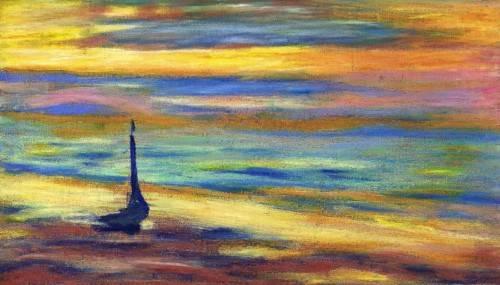 moderne-gemaelde - der Strand - Molsan, E.