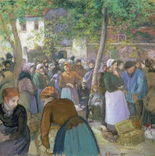 portraetgemaelde - Marché de la volaille à Gisors - Pissarro, Camille