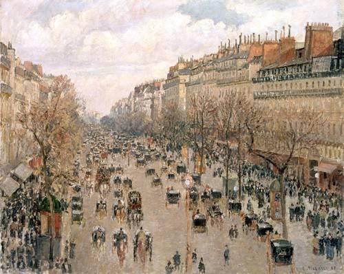 landschaften-gemaelde - Boulevard Montmartre, 1897 - Pissarro, Camille