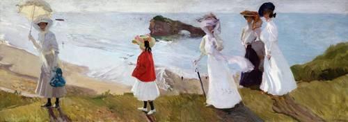 seelandschaft - Promenade du phare, Biarritz, 1906 - Sorolla, Joaquin