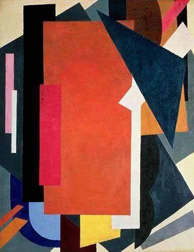 abstrakte-gemaelde - Painterly architectonics - Popova, Lyubov Sergevna