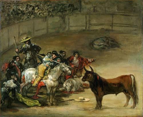 tiermalereien - Corrida de toros, Suerte de Varas (toros) - Goya y Lucientes, Francisco de