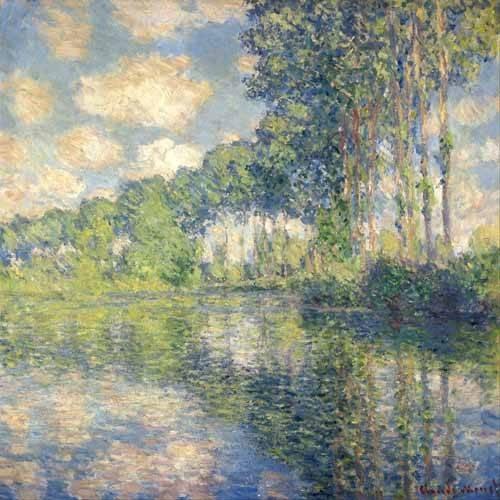 landschaften-gemaelde - Peupliers sur l'Epte - Monet, Claude