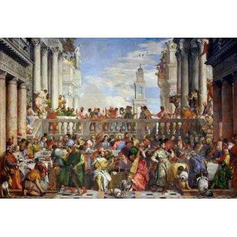 Religiöse Gemälde - Las Bodas de Caná, 1563 - Veronese, Paolo