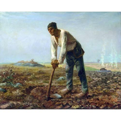 L'homme à la houe, 1860