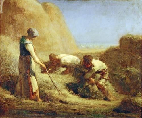 portraetgemaelde - Les botteleurs de foin, 1850 - Millet, Jean François