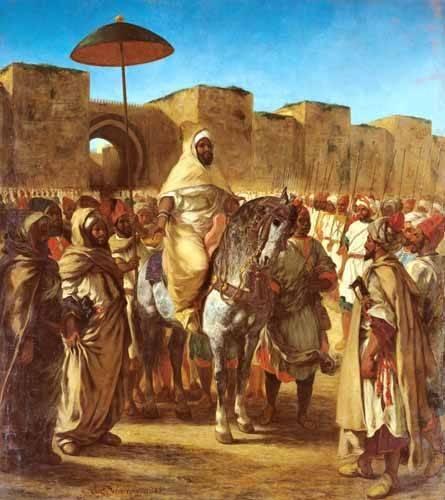 portraetgemaelde - The Sultan Of Morocco - Delacroix, Eugene