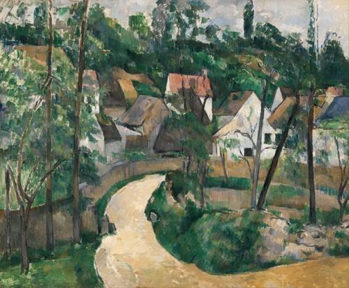 landschaften-gemaelde - La Route tournante, 1881 - Cezanne, Paul