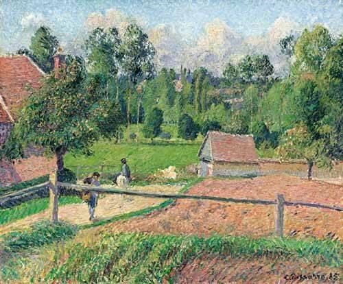 landschaften-gemaelde - Vue de la fenêtre de l'artiste (Eragny) - Pissarro, Camille