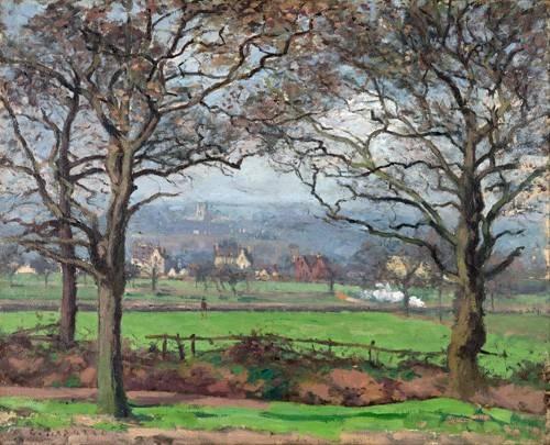 landschaften-gemaelde - Near Sydenham Hill - Pissarro, Camille