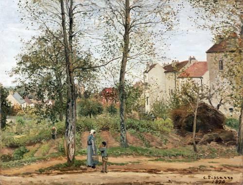 landschaften-gemaelde - Maisons à Bougival (automne) - Pissarro, Camille