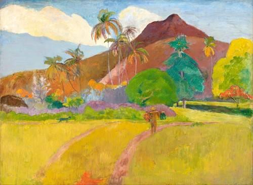 landschaften-gemaelde - Tahitian_Landscape - Gauguin, Paul