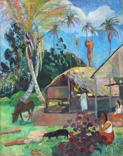 landschaften-gemaelde - Les pourceaux noirs, 1891 - Gauguin, Paul