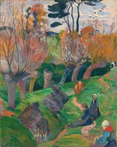 landschaften-gemaelde - Paisaje en Bretaña - Gauguin, Paul