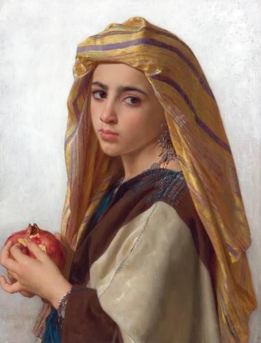 portraetgemaelde - Girl with a pomegranate - Bouguereau, William