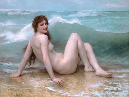 kuenstlerische-aktbilder - The Wave, 1896 - Bouguereau, William