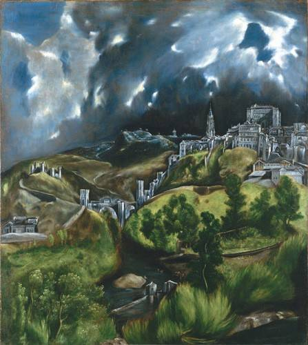 landschaften-gemaelde - Vista de Toledo, 1596 - Greco, El (D. Theotocopoulos)