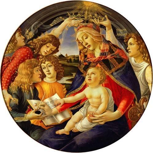 religioese-gemaelde - La Virgen Del Magnificat - Botticelli, Alessandro