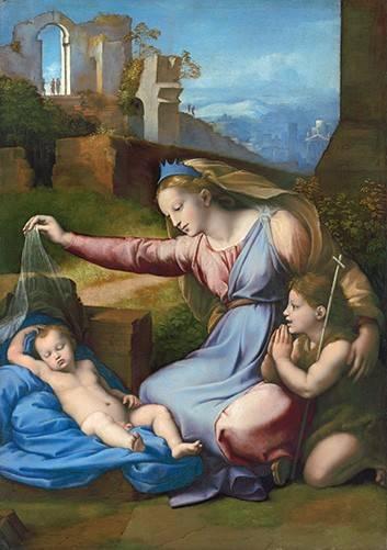 religioese-gemaelde - La Virgen Del Velo - Raphaël, Sanzio da Urbino Raffael