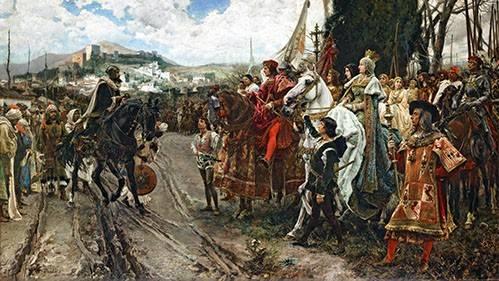 portraetgemaelde - La Rendición de Granada - Pradilla, Francisco