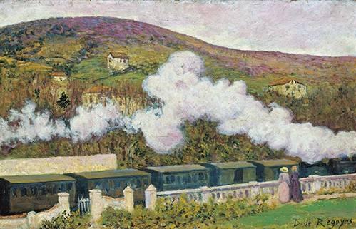 landschaften-gemaelde - El paso del tren - Regoyos, Dario de