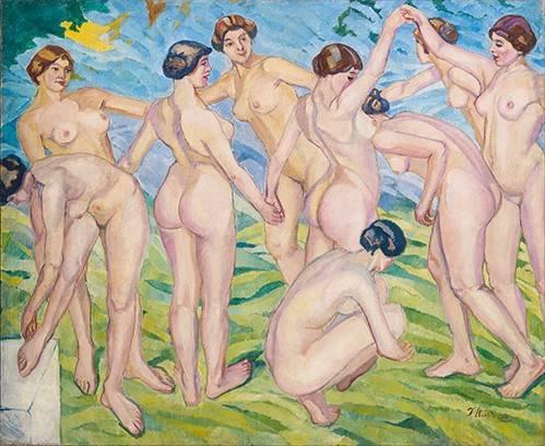portraetgemaelde - Desnudo (mujeres bailando en circulo) - Iturrino, Francisco