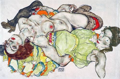 portraetgemaelde - Female Lovers, 1915 - Schiele, Egon