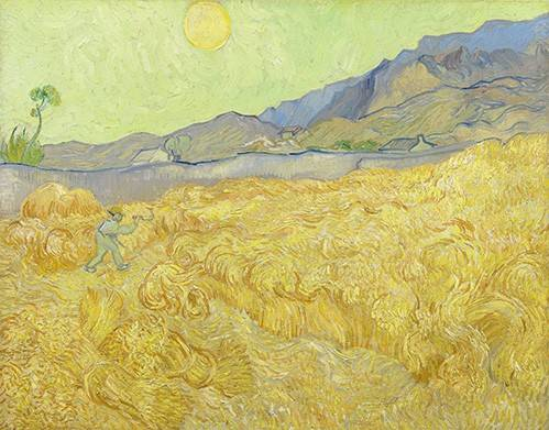 landschaften-gemaelde - Champ de blé avec une faucheuse, 1890 - Van Gogh, Vincent