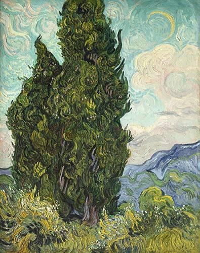 landschaften-gemaelde - Cyprès - Van Gogh, Vincent