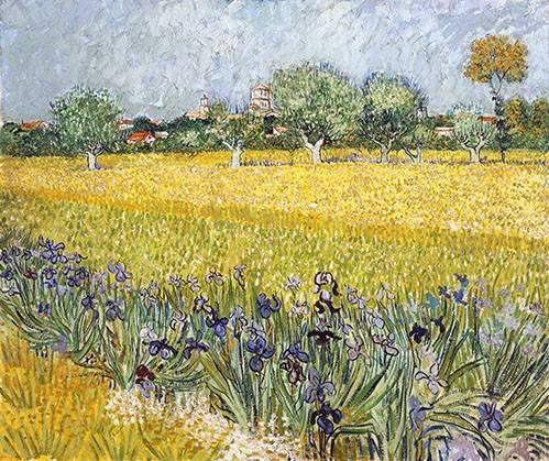 landschaften-gemaelde - Champ de fleurs près d'Arles, 1888 - Van Gogh, Vincent