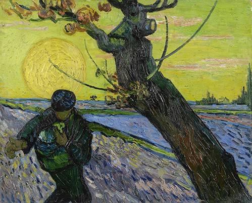 landschaften-gemaelde - Le semeur au soleil couchant, 1888 - Van Gogh, Vincent