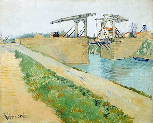 landschaften-gemaelde - Pont Langlois, 1888 - Van Gogh, Vincent