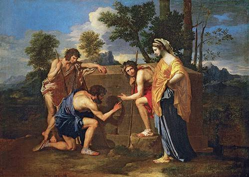 portraetgemaelde - Los Pastores de Arcadia ó - Et in Arcadia ego - Poussin, Nicolas