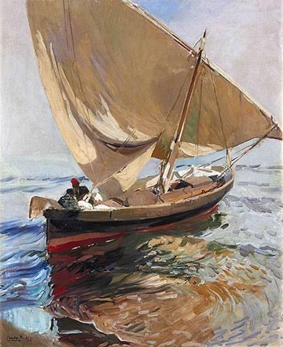 seelandschaft - Route de pêche, 1908 - Sorolla, Joaquin