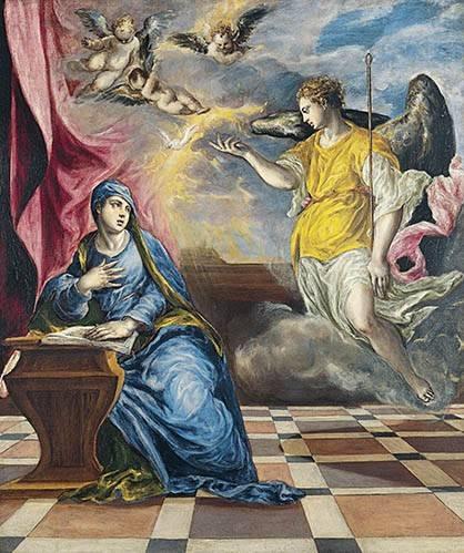 religioese-gemaelde - L'annonciation, 1576 - Greco, El (D. Theotocopoulos)