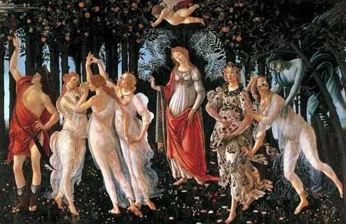 portraetgemaelde - La primavera - Botticelli, Alessandro