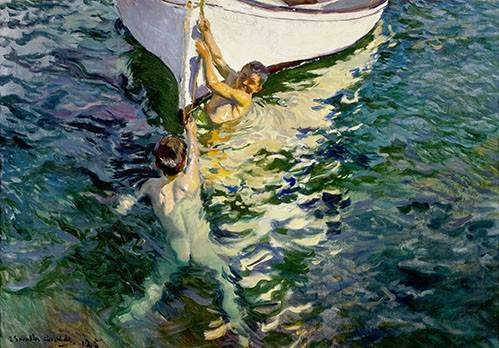 portraetgemaelde - Le bateau blanc - Sorolla, Joaquin