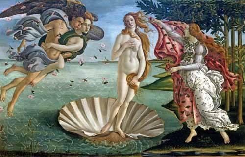 portraetgemaelde - Die Geburt der Venus - Botticelli, Alessandro