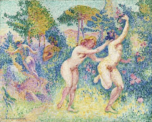 kuenstlerische-aktbilder - La Fuite Des Nymphes - Cross, Henri Edmond
