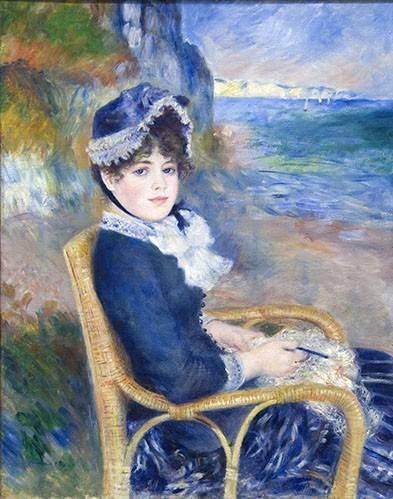 portraetgemaelde - Au bord de la mer, 1883 - Renoir, Pierre Auguste