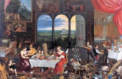 portraetgemaelde - El gusto, el oido y el tacto - Bruegel