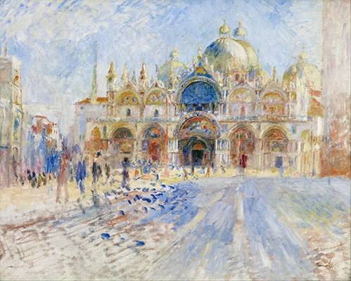 landschaften-gemaelde - Place San Marco, Venise - Renoir, Pierre Auguste