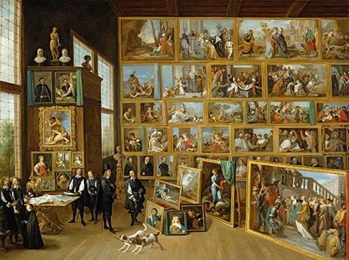 portraetgemaelde - Archiduque Leopold William en su Galeria, Bruselas - Teniers, David